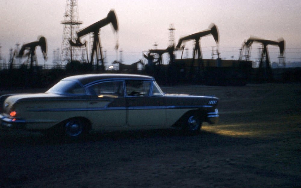 Image of Oil Derricks Long Beach California: July 1959