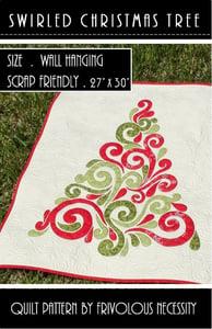 Image of Swirled Christmas Tree Quilt Pattern PDF