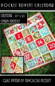 Image of Pocket Advent Calendar Quilt Pattern PDF