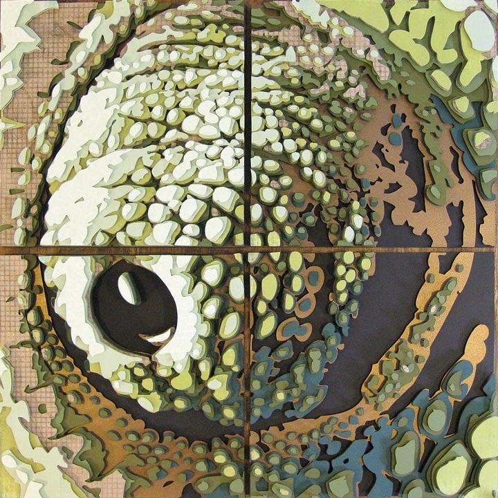 Image of Chameleon Eye Optograph