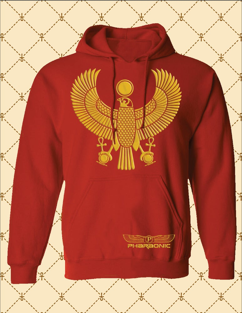 Image of Men's Custom Heru Gold Pull Over Hoodie