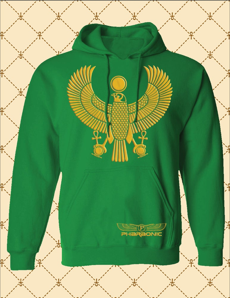 Image of Women's Custom Heru Gold Pull Over Hoodie
