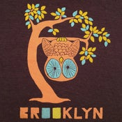 Image of Brooklyn Tree Owl - Unisex VNeck XXS, XS, SM, XL / Womens SM-XL