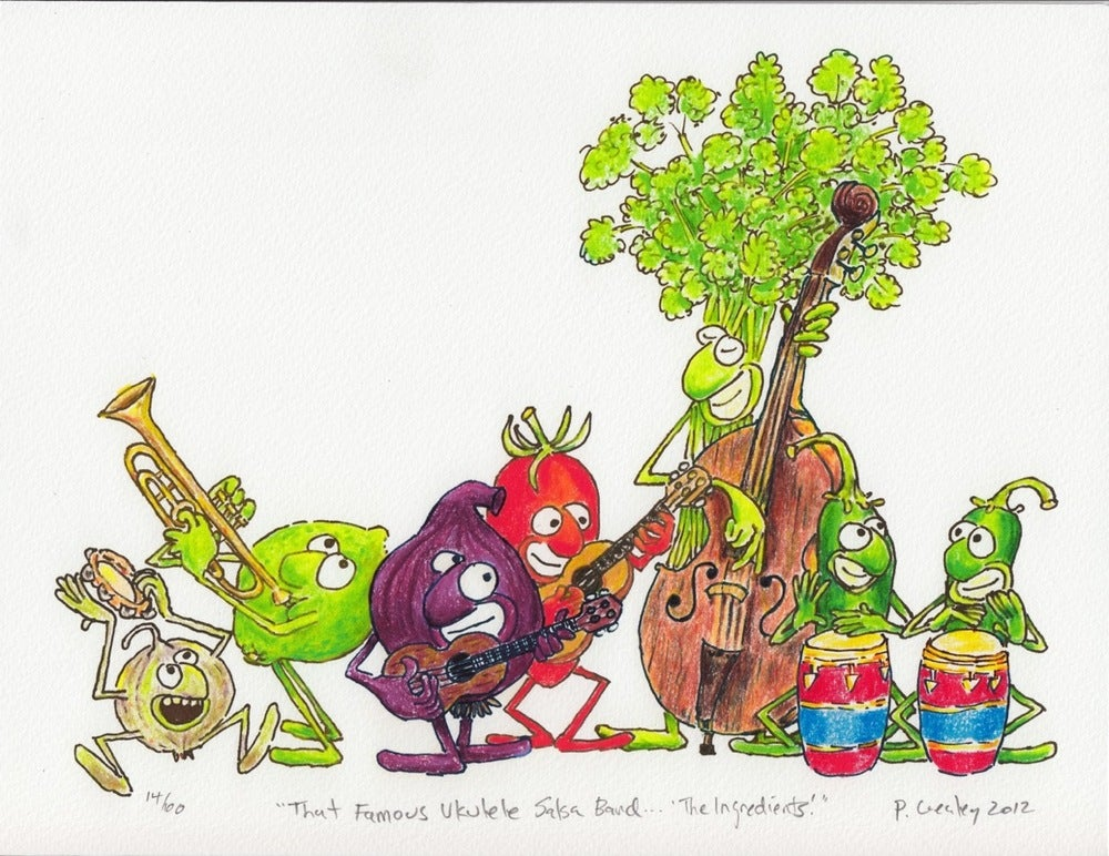 "Image of ""That Famous Ukulele Salsa Band... The Ingredients"""