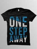 Image of ONE STEP AWAY Black Logo Tee