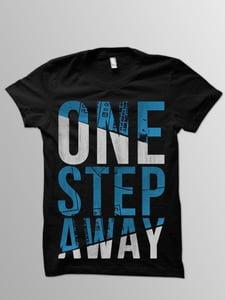 Image of ONE STEP AWAY Black Logo Tee
