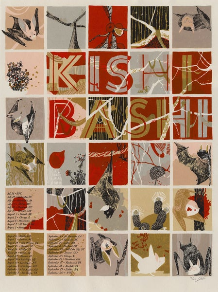 "Image of Kishi Bashi (Summer/Fall 2012 North America Tour) • Limited Edition Official Poster (18"" x 24"")"