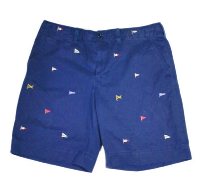 Image of Polo Ralph Lauren Flag Embroidered Shorts