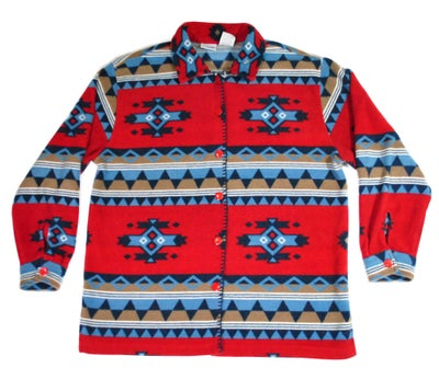 Image of Western print Fleece sweater
