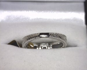 Image of 14K White Gold Diamond Engagement Ring (.33ct Cushion Center