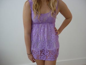 Image of Hand Dyed Lilac Top