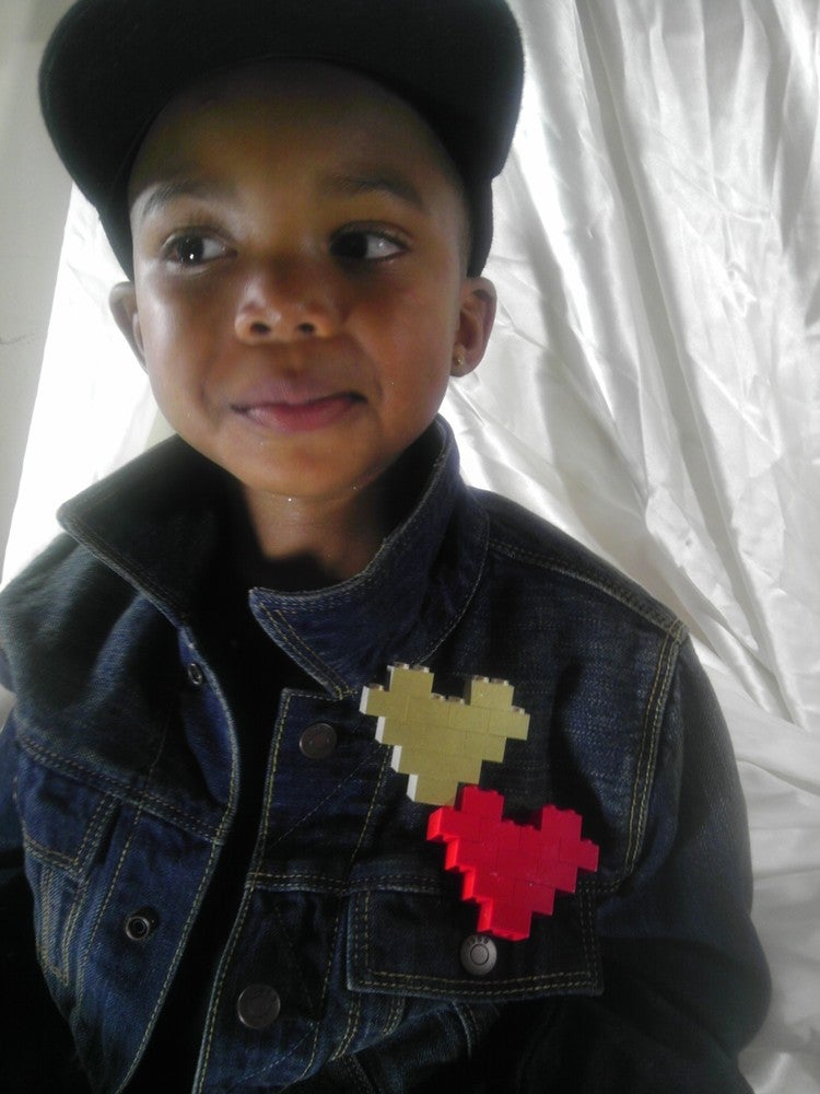 Image of Signature EthniCITY Brick Heart Pendants