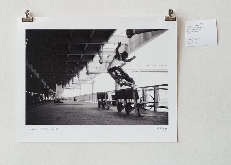 "Image of stevie williams - backside 180 nosegrind - 11"" x 14"" print"