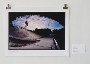 "Image of jerry mraz - frontside 5-0 grind - 11"" x 14"" print"