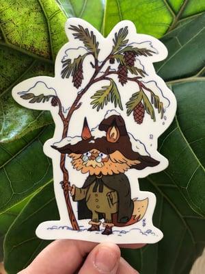 Pinecone wanderer sticker