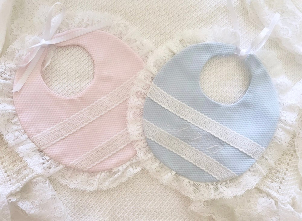 Image of Lace Personalized bibs
