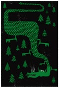 Image of The Dragon's Forest Silkscreen Art Print