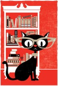 Image of Black Cat Lucky 13 Art Print