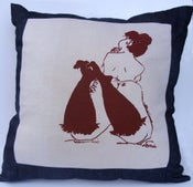 Image of Annie in Stockings Cushion