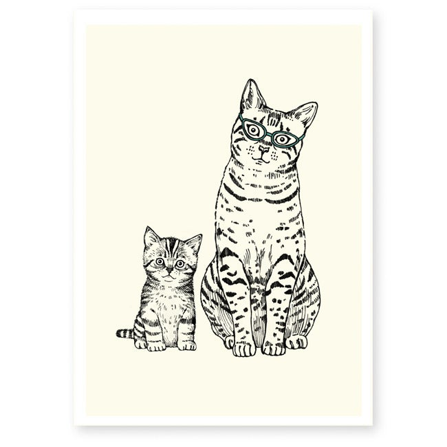 Image of Affiche A4 Maman et chaton