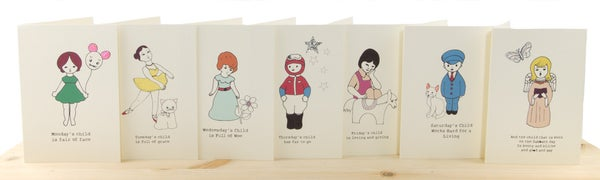 Image of Monday's Child Cards