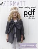 Image 2 of the ZERMATT bow swing coat PDF pattern
