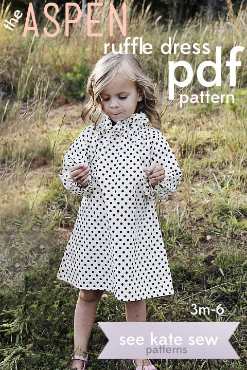 Image of the ASPEN ruffle dress PDF PATTERN