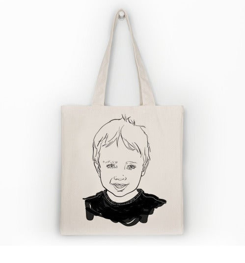 Image of Your Portrait on a Tote