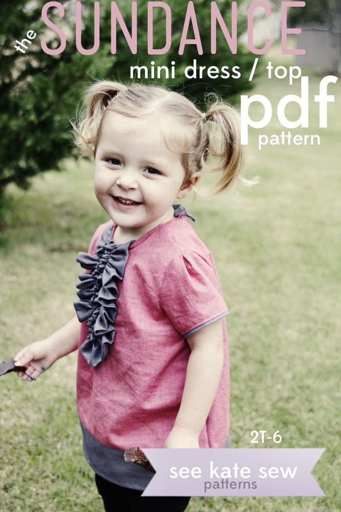 Image of the SUNDANCE mini dress/top PDF PATTERN