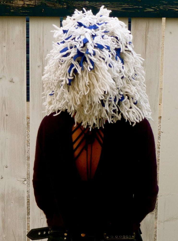 Image of Shamb Hood White with Blue