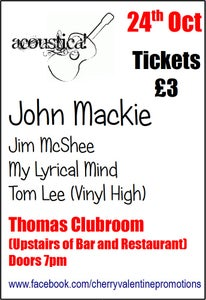 Image of Acoustica! with John Mackie + Guests - 24th October