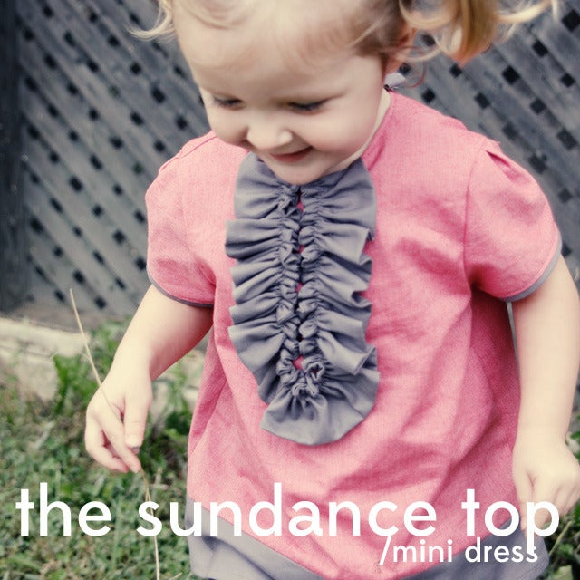 Image of the SUNDANCE mini dress/top PDF PATTERN