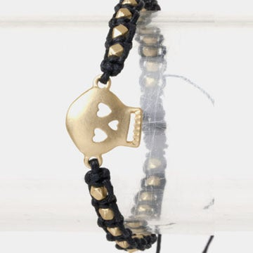 Image of Black and Gold Skull Bracelet
