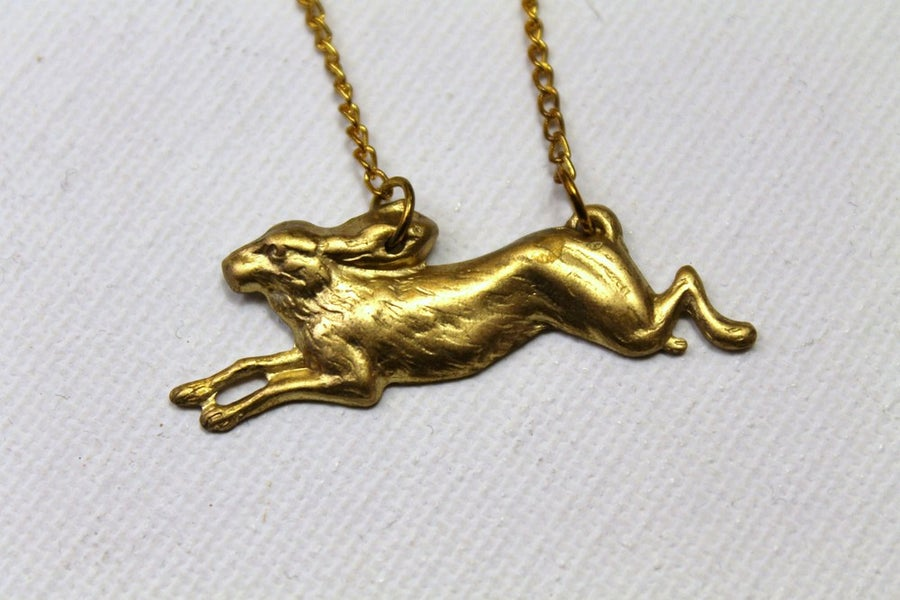 Image of Running Rabbit Necklace (ORIGINALLY $24)