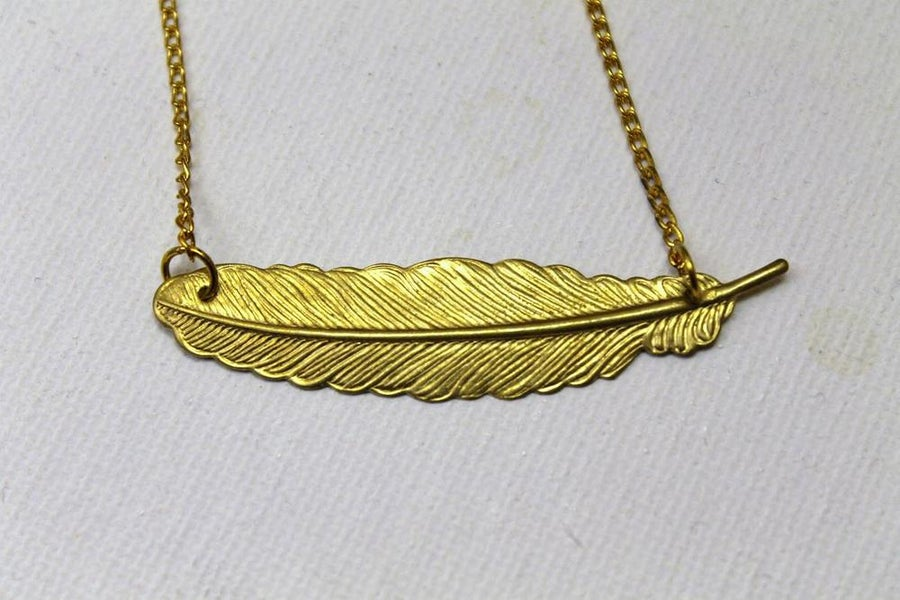 Image of Golden Feather Necklace (ORIGINALLY $20)