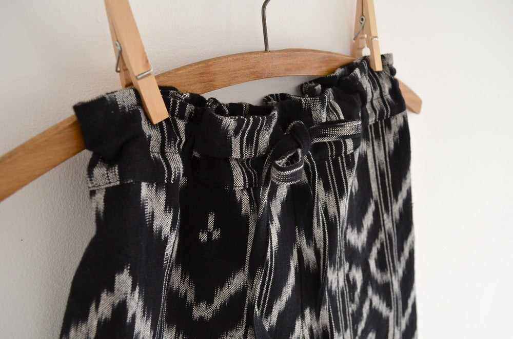 Image of black ikat trousers
