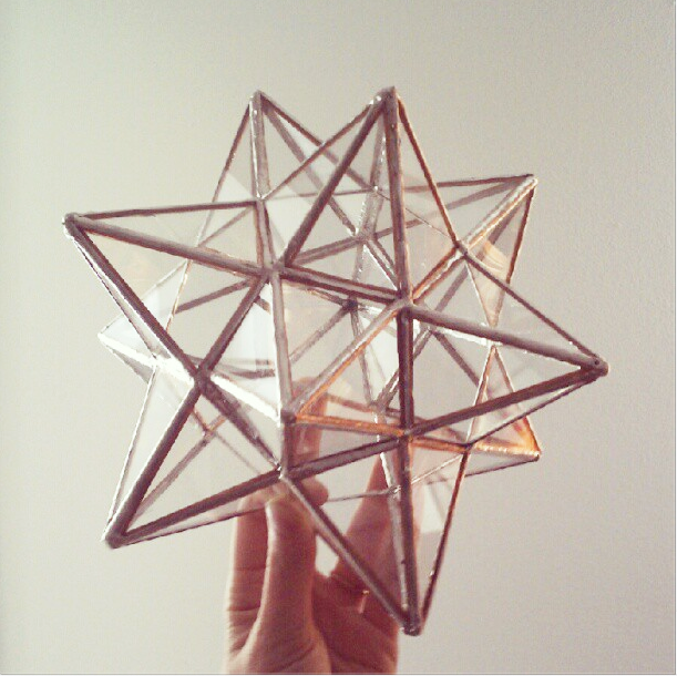 12 Pointed Stained Glass Star Tree Topper