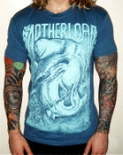 Image of £5 FREE SHIP & E.P! Blue 'HAMMERHEAD' T-Shirt