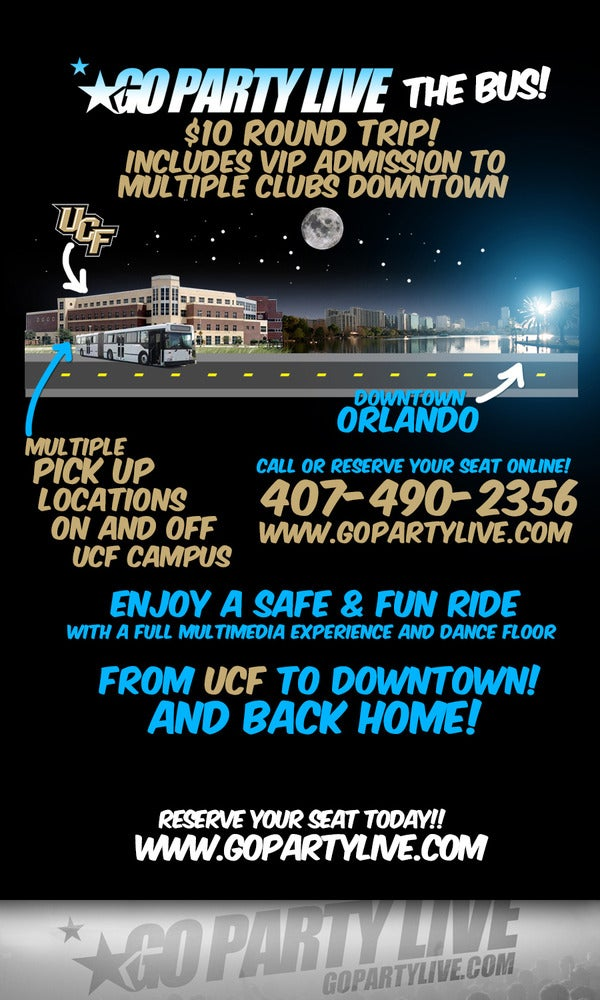Image of UCF to Downtown Orlando Party Bus