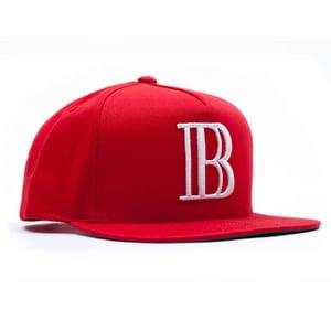 """Image of 40 Oz Van x BAU """"B"""" Snap Back (Red)"""