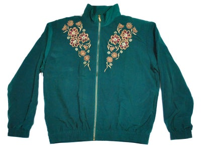Image of Womens Floral embroidered windbreaker