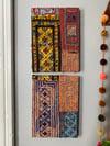 vintage banjara textile collage 002 + 003