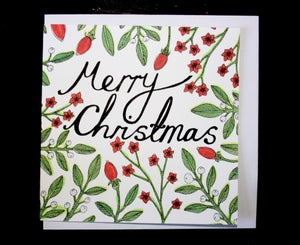Image of Christmas Flowers Card