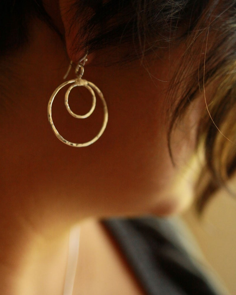 Image of Double Circle Earrings