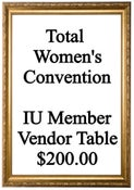 Image of Vendor Table for IU Members - Total Women's Convention