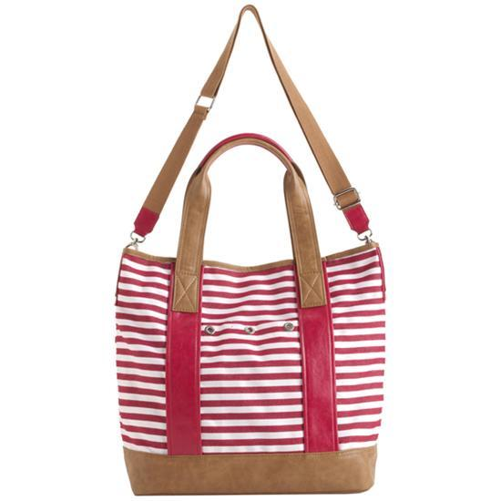 Image of SANTORINI RASPBERRY RED TOTE