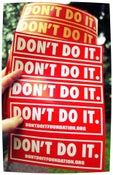 Image of DONT DO IT STICKER PACK
