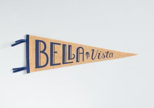 Image of Bella Vista Pennant - Navy Ink