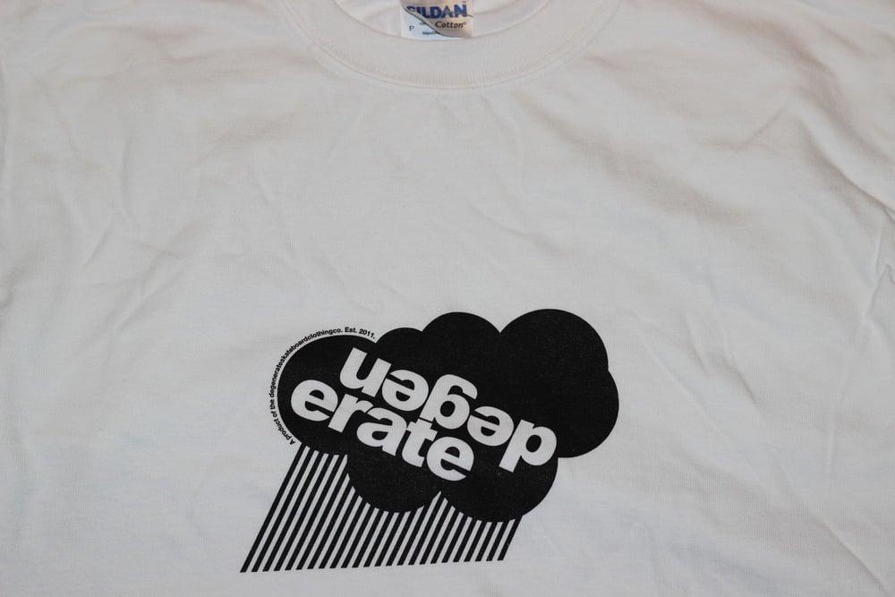 Image of Degenerate 'Cloud' logo t shirt WHITE