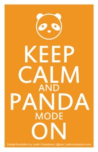 Image of Keep Calm and Panda Mode On Mini-Print